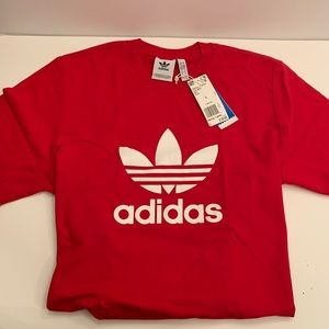 Adidas Trefoil Red Shirt Size Large